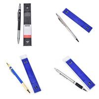 4 комплекта 2 мм 2B ведущий Держатель автоматический для технического черчения карандаш 12 грифель для карандаша школьный офисный карандаш по...