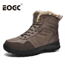 Size 48 Winter Men Boots With Fur Super Warm Ankle Snow waterproof outdoor Footwear Fashion Shoes