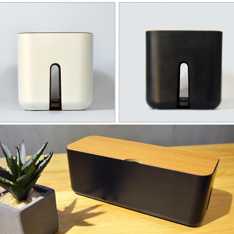 Cable Storage Box Power Strip Wire Storage Case Anti Dust Charger Socket Cable Organizer Box Desktop Network Line Storage Bin