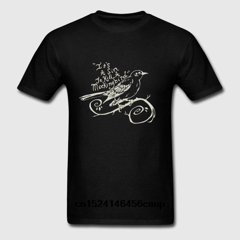 100% Cotton O-neck Custom Printed Men T shirt To Kill a Mockingbird It s a sin Women T-Shirt