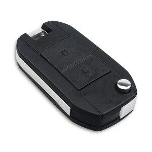 Image 3 - KEYYOU Modified Remote Car Key Shell Fob For Peugeot 307 107 207 407 Citroen C2 C3 Xsara 2 Buttons Key Case HU83/VA2/NE73 Blade