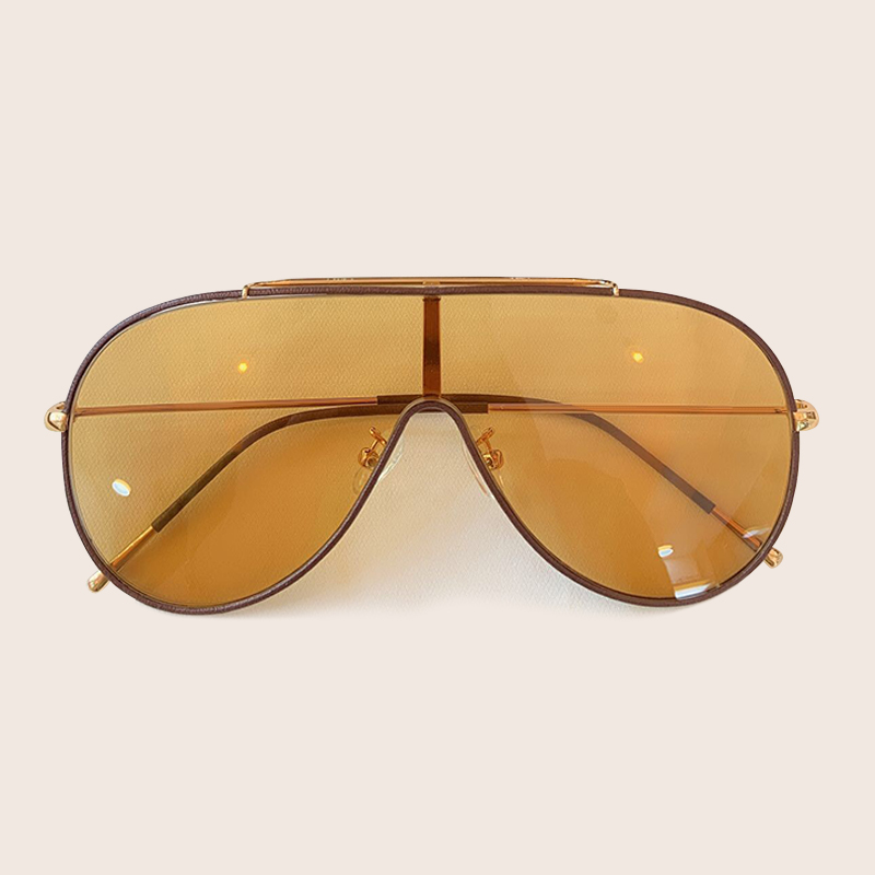 Pilot Sunglasses Women/Men Classic One Piece Lens Goggles Sun Glasses for Women