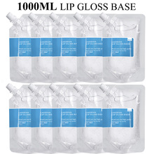 1000ml Clear Lip Gloss Base Gel in Bulk DIY Moisturizing Lipstick Material Gel Handmade Lip Gloss Wholesale Lipgloss Business