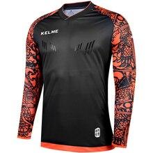 Детская униформа для вратаря KELME, детские футболки для футбола, футболки с длинными рукавами, футболки для вратаря, защитная губка для футбо...
