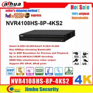Image 1 - Dahua 4K NVR 8POE NVR מקליט NVR4108HS 8P 4KS2 H.265 עד 8MP רזולוציה 1 SATA III נמל, עד 6 TB קיבולת כל HDD DVR