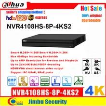 Dahua NVR 4K 8POE NVR NVR4108HS 8P 4KS2 H.265ได้ถึง8MPความละเอียด1พอร์ตSATA III,up To 6 TBความจุHDD DVR