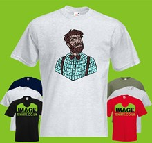 Hipster Text Mens PRINTED T-SHIRT Beard Moustache Shirt Bow Tie Movember(China)