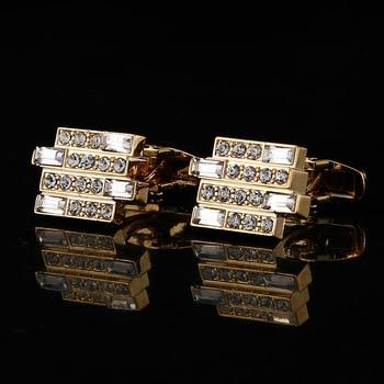 High-end Luxury Men's French  Crystal Cufflinks  3