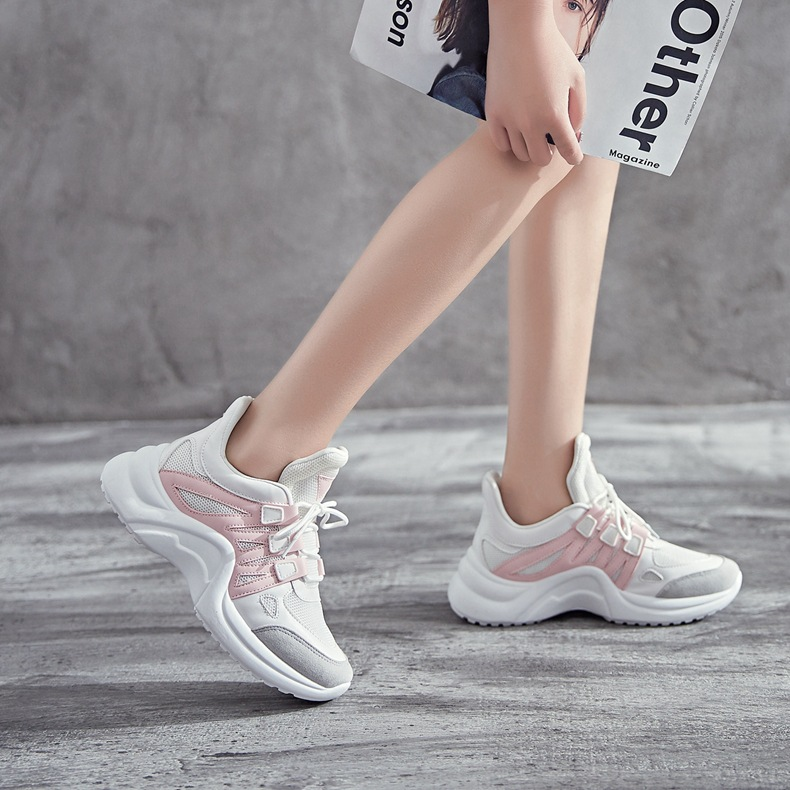 H38cad4a85d98459793ce4c5ff64deb6cg - Fujin Sneakers Women Breathable Mesh Casual Shoes Female Fashion Sneaker Lace Up High Leisure Women Vulcanize Shoe Platform