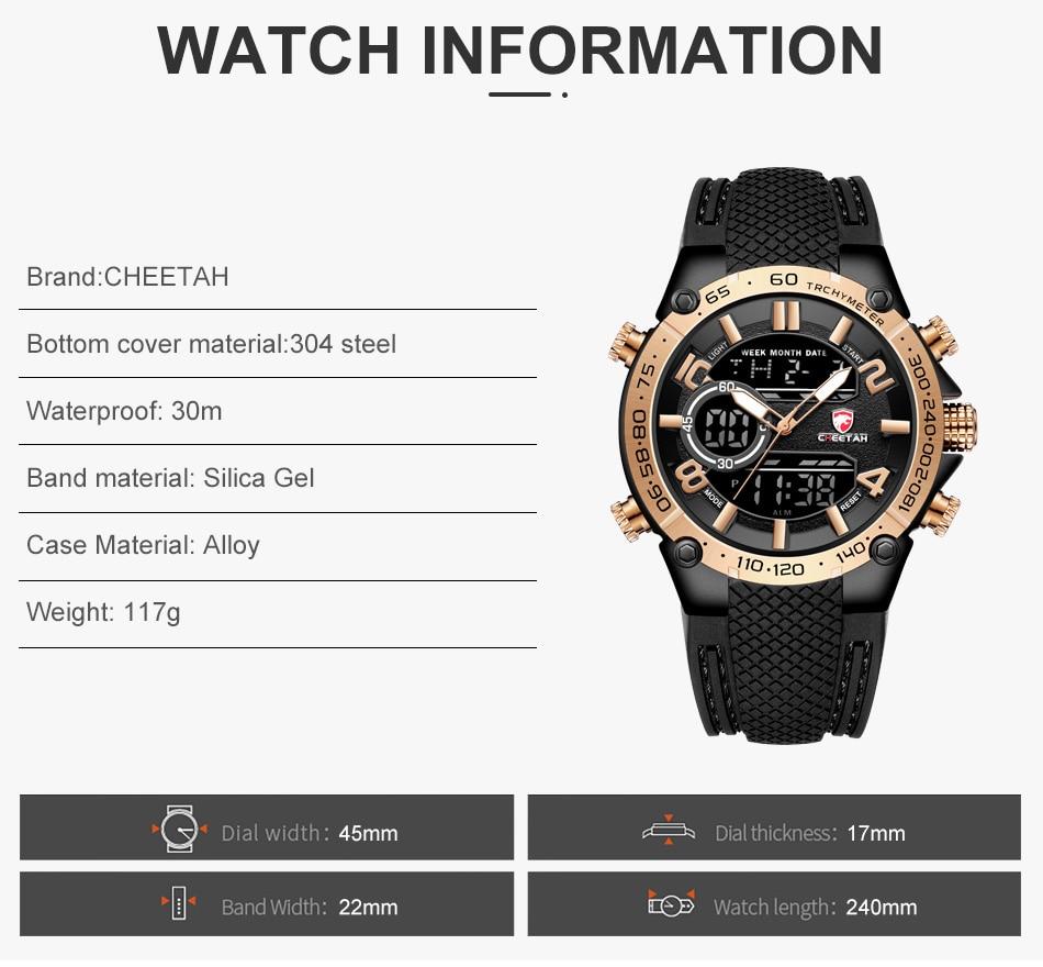 H38cad7747368415b94dea7ef885b152bV Top Luxury Brand CHEETAH Men Watch Fashion Sports Wristwatch Digital Quartz Analog Clock Waterproof Watch Men Relogio Masculino