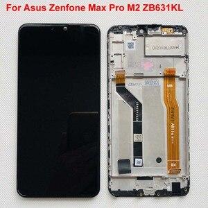 Image 2 - 6.26 AAA الأصلي LCD ل Asus Zenfone ماكس برو M2 ZB631KL/ZB630KL شاشة الكريستال السائل محول الأرقام بشاشة تعمل بلمس قطع تجميع + الإطار