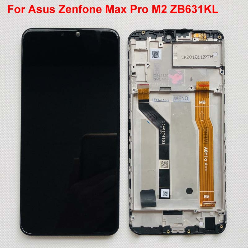 6.26 AAA Original LCD For Asus Zenfone Max Pro M2 ZB631KL /  ZB630KL LCD Display Touch Screen Digitizer Assembly Parts FrameMobile  Phone LCD Screens