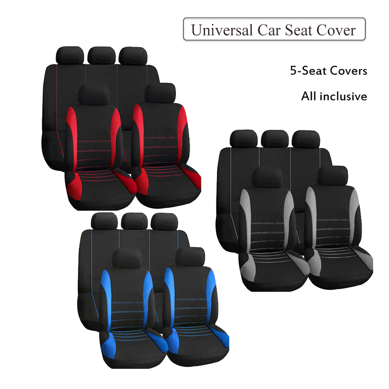 00-08 SUZUKI IGNIS FRONT /& REAR CAR FULL SET SEAT COVERS CLOTH BLACK