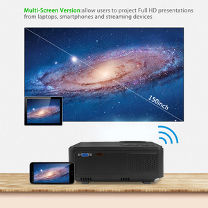 Image 4 - Rigal Mini Projector RD813 1280x 720PLED WiFi Multi Screen Projector 3D Beamer Support HD 1080P Portable Home TV Theater Cinema