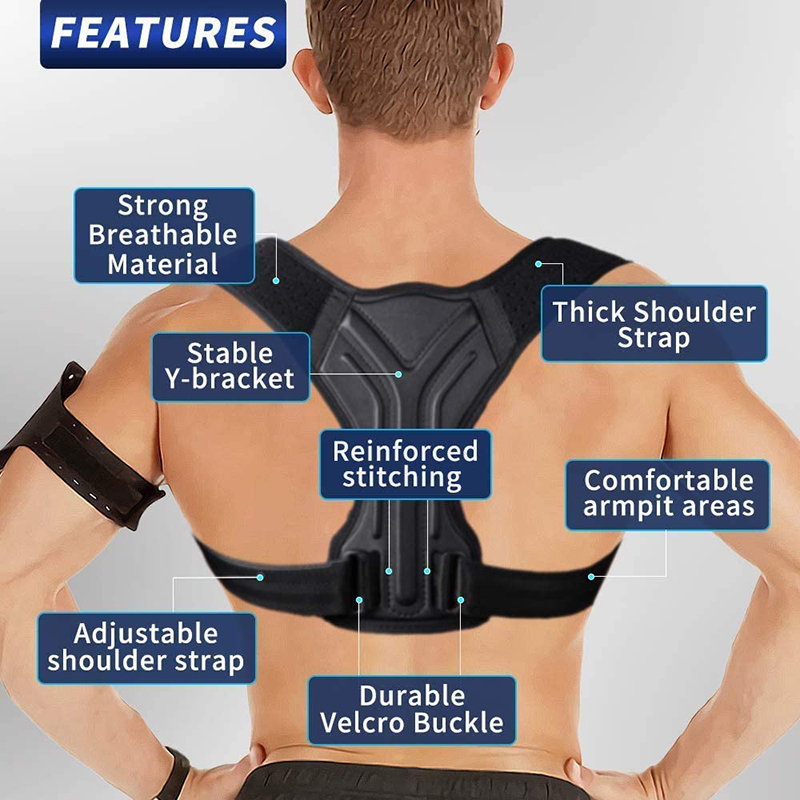 Adjustable Posture Corrector Back Support Shoulder Back Corset Posture Correction Spine Postural Corrector Health Fixer Tape 4