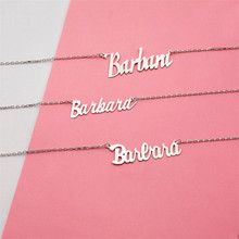 HIYONG Custom Necklaces Personalized Name Jewelry Personality Rose Gold Letter Choker for Women Girls Lovers