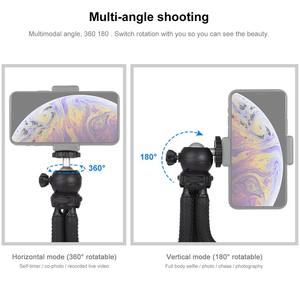 25СМ/30СМ мини осьминог Гибкий штатив с шаровой головкой для Canon/Никонс/Сони зеркалка GoPro8 7 6 мобильный телефон iphone11 9 7 х Redmi7