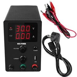 Nuevo USB CC laboratorio 60V 5A fuente de alimentación regulada ajustable 30V 10A estabilizador y regulador de voltaje fuente de Banco de conmutación