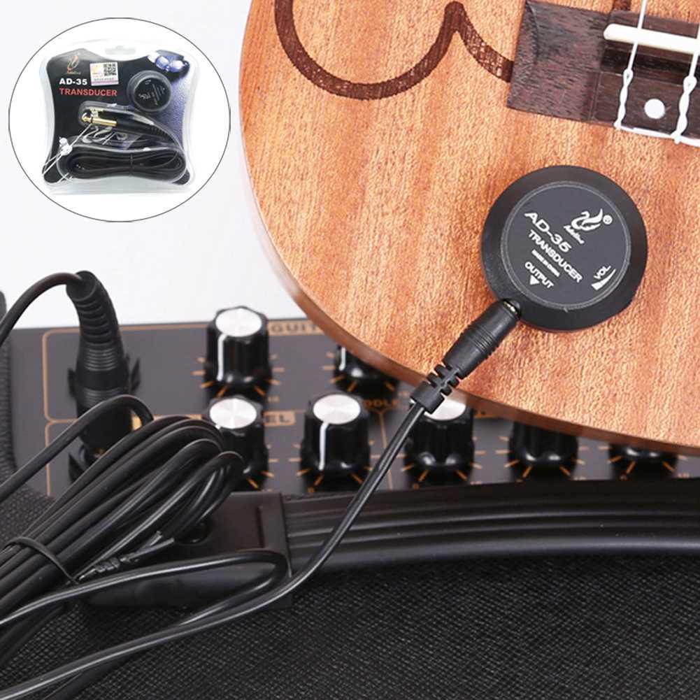 Alomejor Pickup Piezo 50mm Sensitive Transducer Pickups for Guitar Mandolin Cigar box Guitar Violin Ukulele Banjo