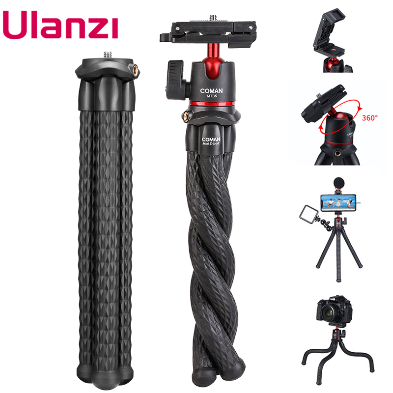 Ulanzi MT 11 Travel Flexible Octopus for Smartphone DSLR SLR Vlog Tripod for Camera Gopro iPhone Huawei Portable 2 in 1 Tripod|Live Tripods| - AliExpress