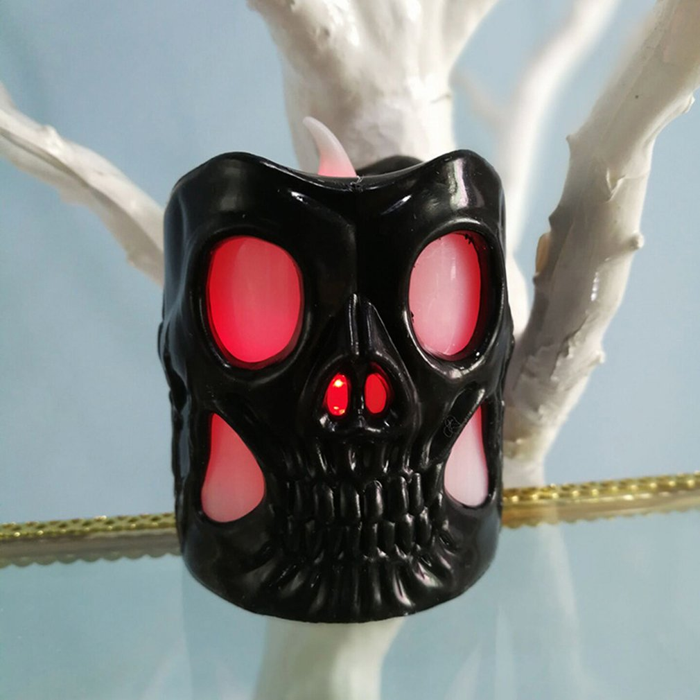 ICOCO New Halloween Skull Lantern Bar KTV Decorative Props Night Light LED Plastic Lantern Home Decor Drop Shipping Sale