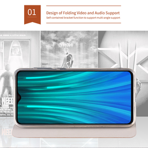 Image 4 - For Xiaomi Redmi Note 7 8 Pro Case MOFI Flip PU Leather Stand Cases For Redmi Note 8T Note 8 Pro Book Style Book Style Cover