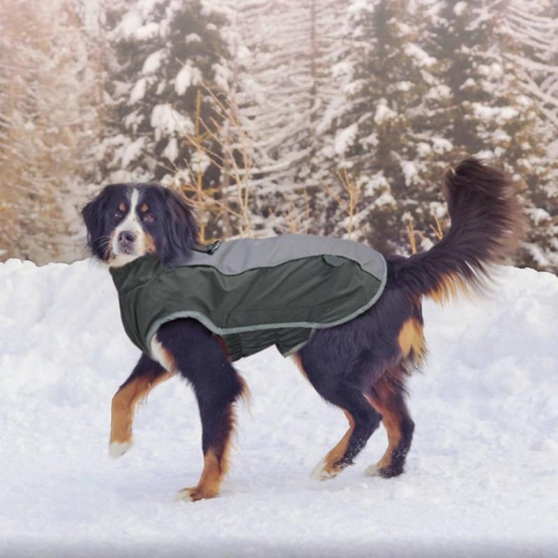 Зимнее пальто, теплая одежда для щенков, светоотражающая водонепроницаемая куртка для домашних животных, лыжный костюм для маленьких средних и больших собак, французский Бульдог-2