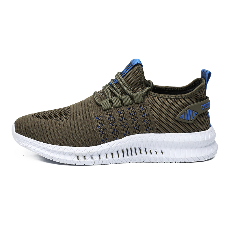 HUCDML Big Size Sneakers Shoes for Men Lightweight Breathable Running Walking Male Footwear Soft Sole Lace-up Scarpe Uomo 6
