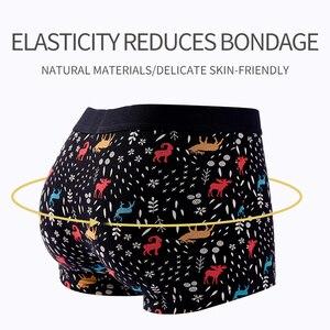 Image 3 - 4Pcs/lot Panties Mens Boxer Underwear Plus Size Organic Cotton Underpants Men Sexy Boxer Ventilate Short Homme L XL XXL XXXL 4XL