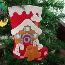 Рождественские чулки, сделай сам, ручная высекающая доска, образовательная деревянная форма, скрапбукинг MY6606