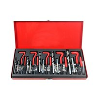 131Pcs Thread Repair Set M5 M6 M8 M10 M12 Metric Thread Insert Repair Tools With 1.5D Coil Tin Wrench Drill Tap Suit