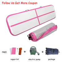 Free Shipping Inflatable Air Track Gymnastics Exercise Yoga Tumbling Mat for Home Fitness Workout Gym Mats Pilates Equipment