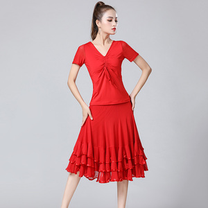 Image 4 - Verkauf Neue Dame Ballsaal Dance Röcke Weibliche Waltz Moderne Tanzen Röcke Tango Leistung Kostüm Nationalen Standard Dance Röcke