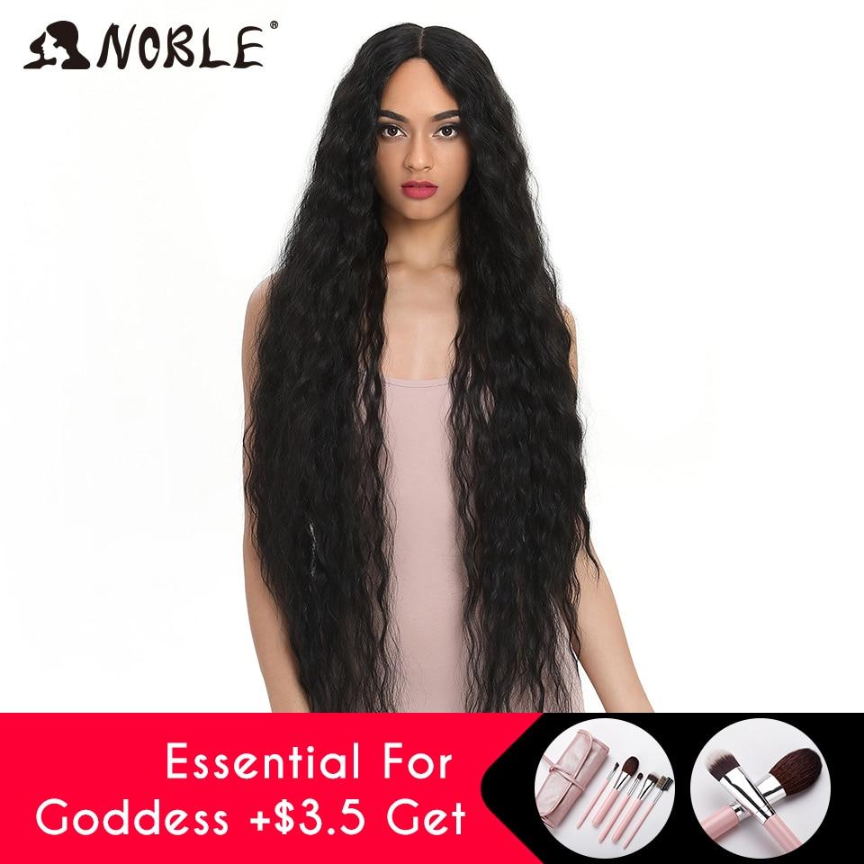 Благородные синтетические кружевные парики для черных женщин, длинные вьющиеся волосы, 42 дюйма, косплей, блонд, Омбре, кружевные передние па...