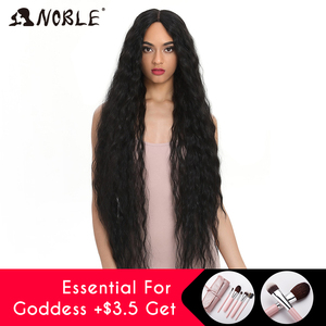 Noble Synthetic Lace Wigs For Black Women Long Curly Hair 42 Inch Cosplay Blonde Ombre Lace Front Wig Synthetic Lace Front Wig(China)