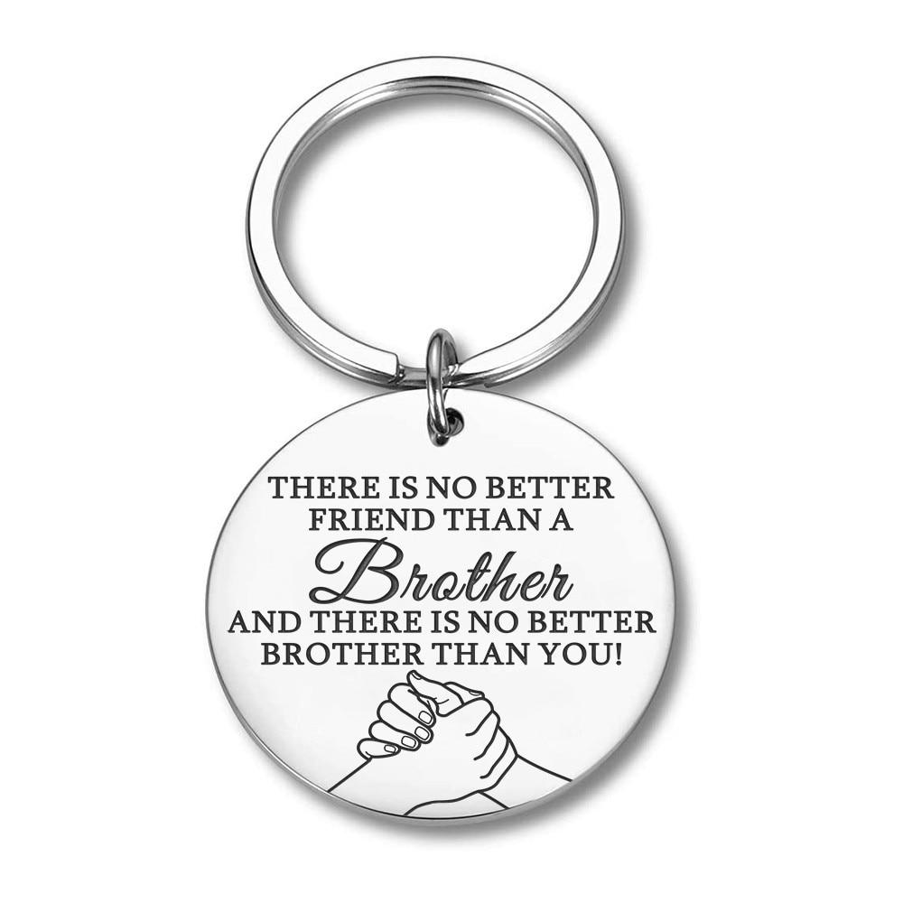 Брелок для ключей Brother, подарок для брата, друга, BFF, брелок для ключей, подарок для большого брата, подарок для младшего брата, кольцо для ключ...