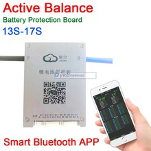 DYKB 13S 17S 60A Active Balance Battery Protection Board BMS 14S 16S 17S Smart Bluetooth APP Lifepo4 li ion LTO 48V 60V