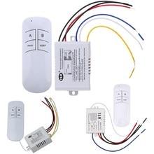 무선 ON/OFF 1/2/3 방식 220V 램프 원격 제어 스위치 수신기 송신기 컨트롤러 실내 램프 가정용 교체 부품, 무선 켜기/끄기