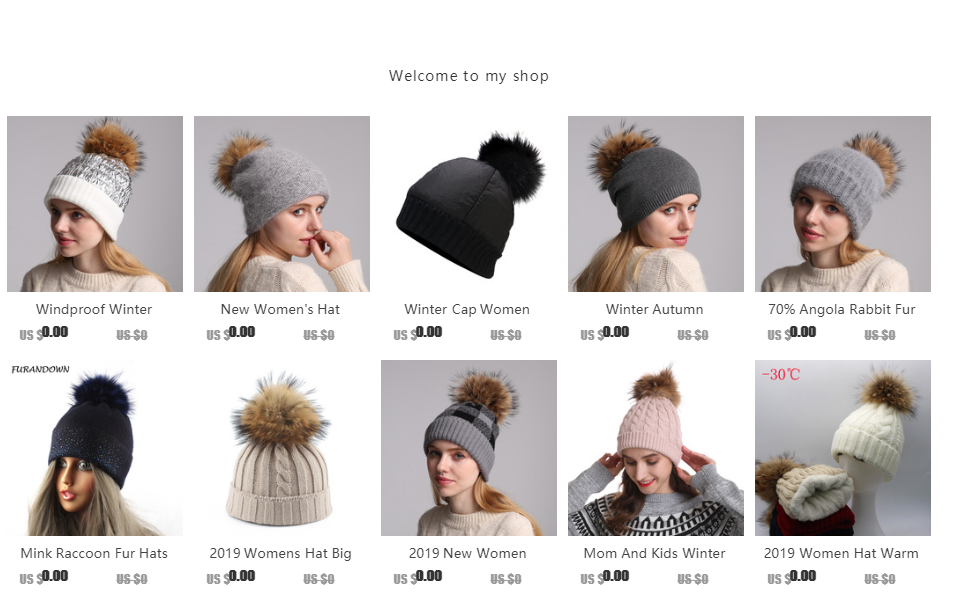 2019 Womens Hats With Scarf Warm Fleece Inside Beanie Girls Winter Cap For Women Real Mink Fur Pompom Hat Female Knitted Caps 18