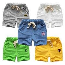 Летние детские Шорты хлопковые шорты для мальчиков и девочек, брендовые шорты с изображением Мстителей трусики для малышей Детские пляжные...