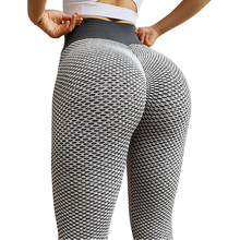 CHRLEISURE Grid Tights Yoga Pants Women Seamless High Waist Leggings Breathable Gym Fitness Push Up Clothing Girl Yoga Pant