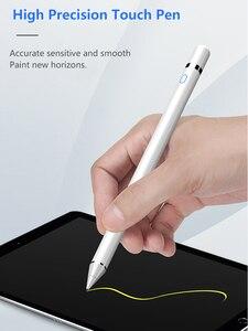 Image 2 - Evrensel Stylus dokunmatik kalem iPad Tablet cep telefonu kapasitif ekran Stylus kalem iPhone Huawei Xiaomi tabletler şarj edilebilir