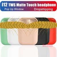 VIP Dropshipping i12 tws opaca senza fili di bluetooth cuffia auricolare senza fili 5.0 di Tocco Pop up auricolare