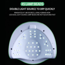 SUN Green M3 Nail Lamp Powerful 180W 45LED UV Lamp Upgrade Auto Nail Gel Dryer Lamp Professional Manicure Lamp
