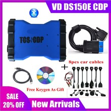 2020 NEW VCI VD DS150E CDP PRO with bluetooth 2016.R0 keygen for delphis obd2 car truck Scanner diagnostic tool with new relays цена 2017