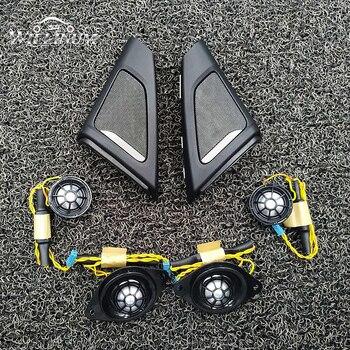 Car Tweeter Cover Trim Kit For BMW F10 F11 5 Series Front Rear Door Speaker Audio Loudspeaker Shell Twtiiter Treble Upgrade car midrange speaker cover trim for bmw 5gt f07 528 535 auto front rear door mid range loudspeaker covers audio tweeter case