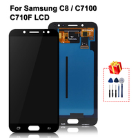 Original Samsung Galaxy C8 Display Super AMOLED For C7 2017 C7100 C710F LCD Display Touch Screen Digitizer Replacement Parts