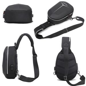 Image 4 - 2020 New Multifunction Shoulder Bag for Men Waterproof Short Trip Chest Bag Anti Theft Men Crossbody Bags Oxford USB Charging