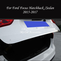 For Ford Focus 3 2015 2018 Tail Door Rear Trunk Trims Strip Molding Frame Cover Stainless Steel Stickers Car Styling Accessories