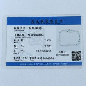 Image 5 - Moonmory S925 Sterling Silber Handschellen Anhänger & Halskette Für Frauen Silber Kette Handschellen Halskette Weiß Menottes Großhandel